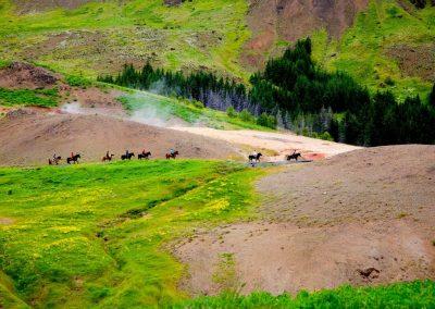heiße Quellen der Pferde 1
